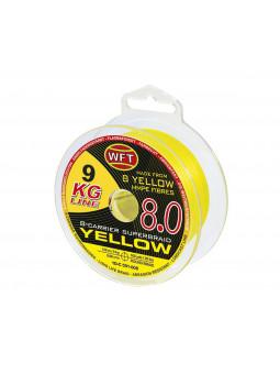 WFT KG 8.0 Yelow 150 m žltá rybárska pletená šnúra
