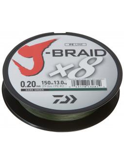 DAIWA J-Braid X8 tmavo zelená šnúra